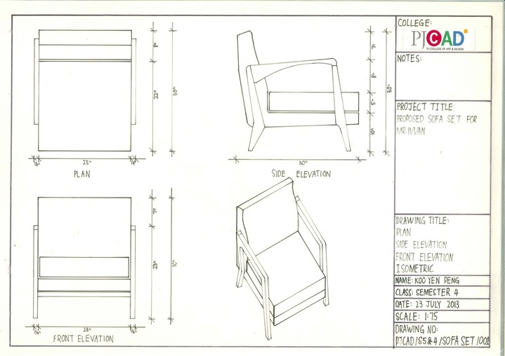 Furniture ScienceProposed Sofa Set For MRIVVAN